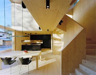 interior de casa de madeira clt