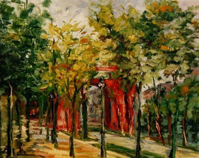 Emiliano García Tur pintura cuadro paisaje Barcelona