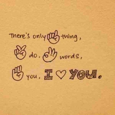 Three Words For You I Love You