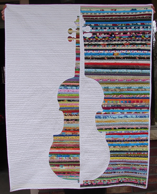 The Life of Riley: Color & Music: Violin Study - A Four-in-Art Quilt