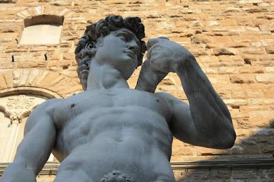 David de Michelangelo in Piazza della Signoria