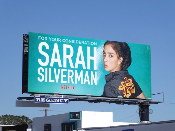 Sarah Silverman Speck of Dust FYC billboard