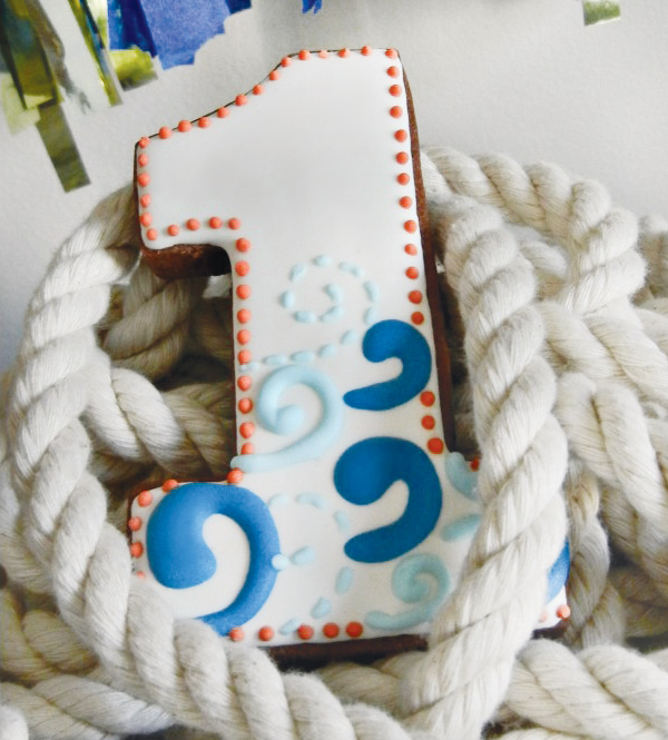 A Red, White and Blue Nautical 1st Birthday Party - BirdsParty.com