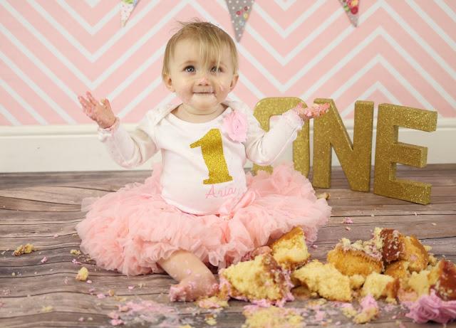 baby girl cake smash outfit