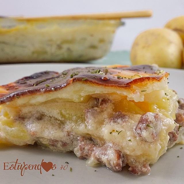 lasaña-de-patatas-con-carne