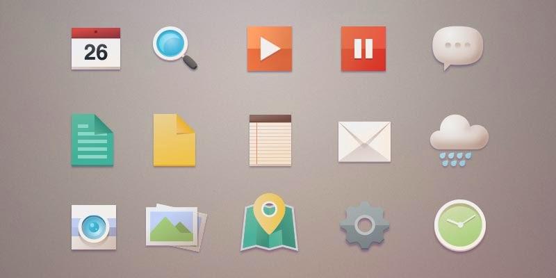 Flat Icon Inspired Set