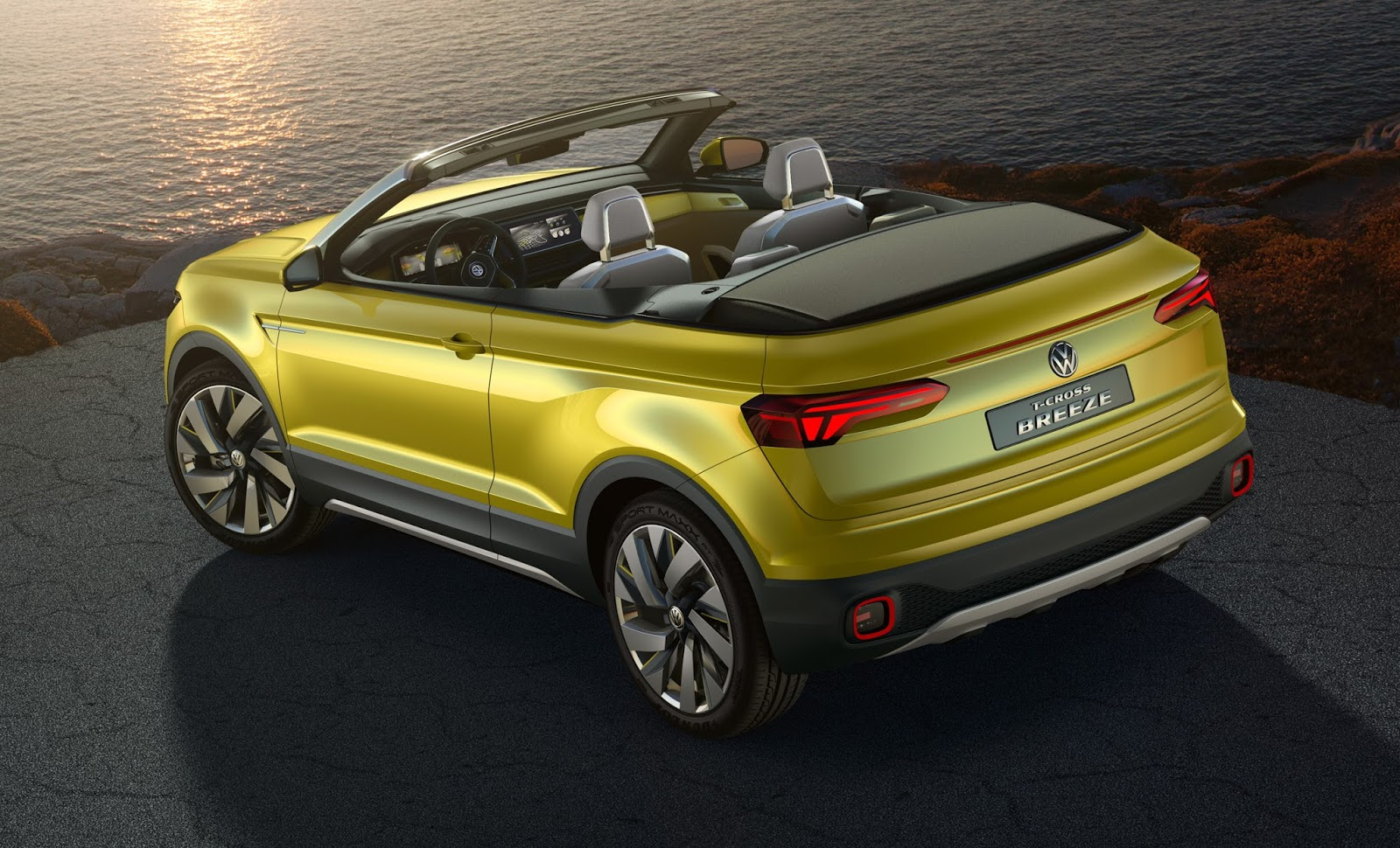 vw t cross breeze concept is a topless juke sized crossover
