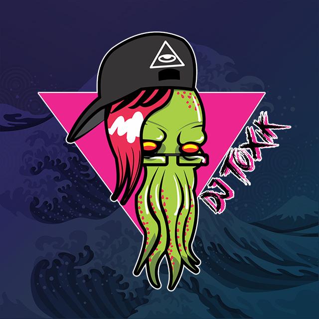 Imagen con el logotipo de DJ TOXIK