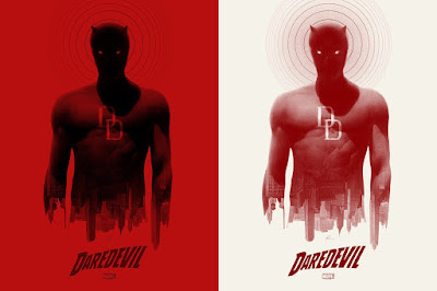 Daredevil Marvel Comics Screen Print by Greg Ruth x Mondo