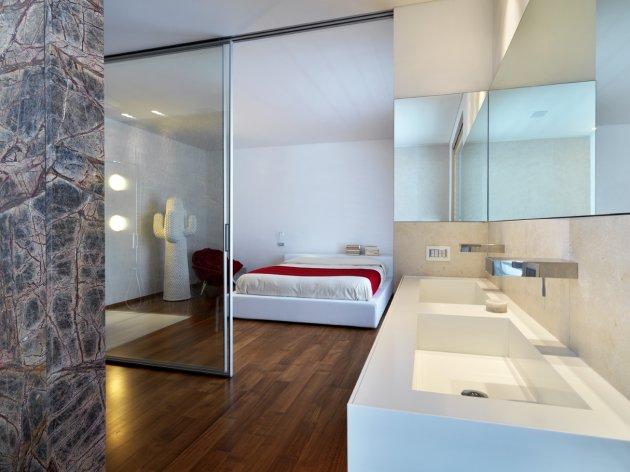 pour ou contre la salle de bain ouverte sur la chambre d coration maison pas cher. Black Bedroom Furniture Sets. Home Design Ideas