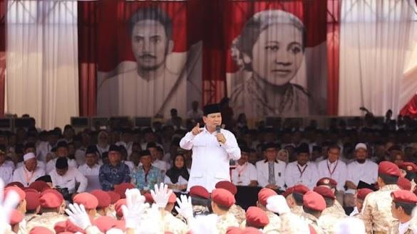Prabowo: Mulai Malam Ini Saya Sebut HRS Imam Besar