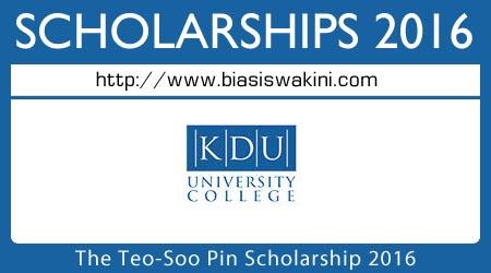 Teo Soo Pin Scholarships 2016