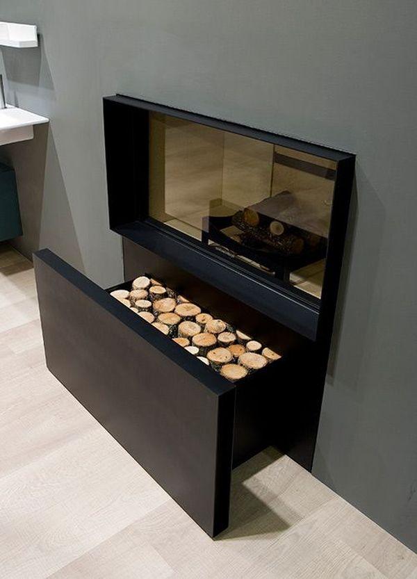 Icono interiorismo como almacenar la le a de la chimenea - La casa de la chimenea ...