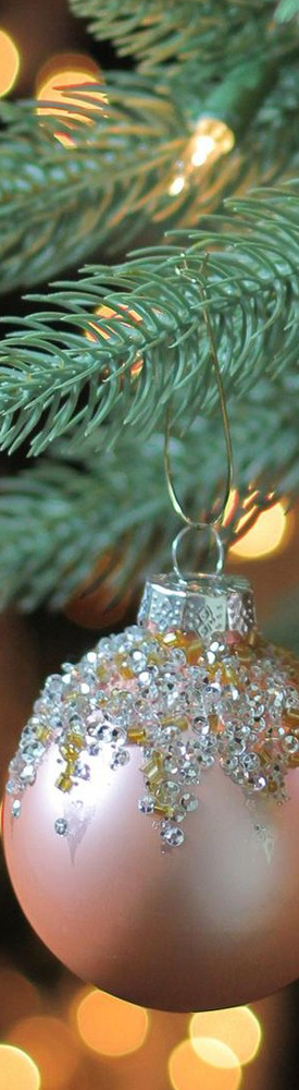 Northlight 4ct Silver/ Gold Sequined Pink Christmas Glass Ball Ornaments