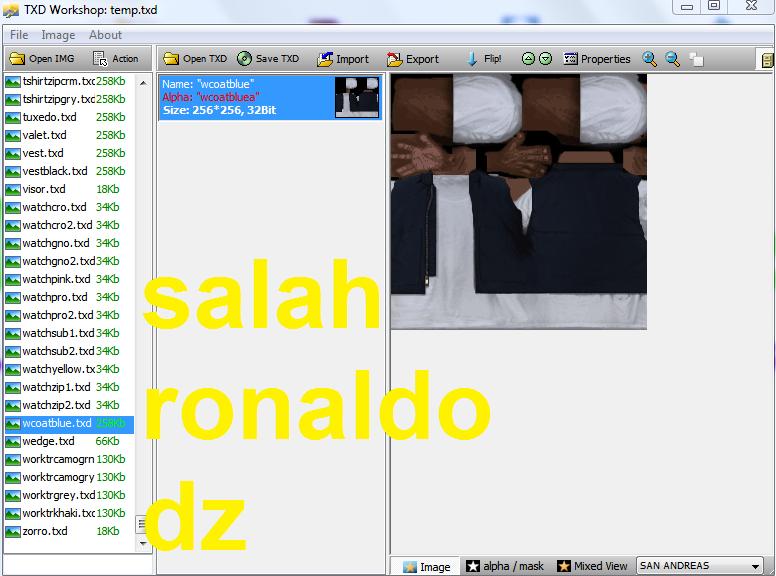 Salah Ronaldo Dz Mods: برنامج txd workshop 4 0 للعبة Gta san andreas