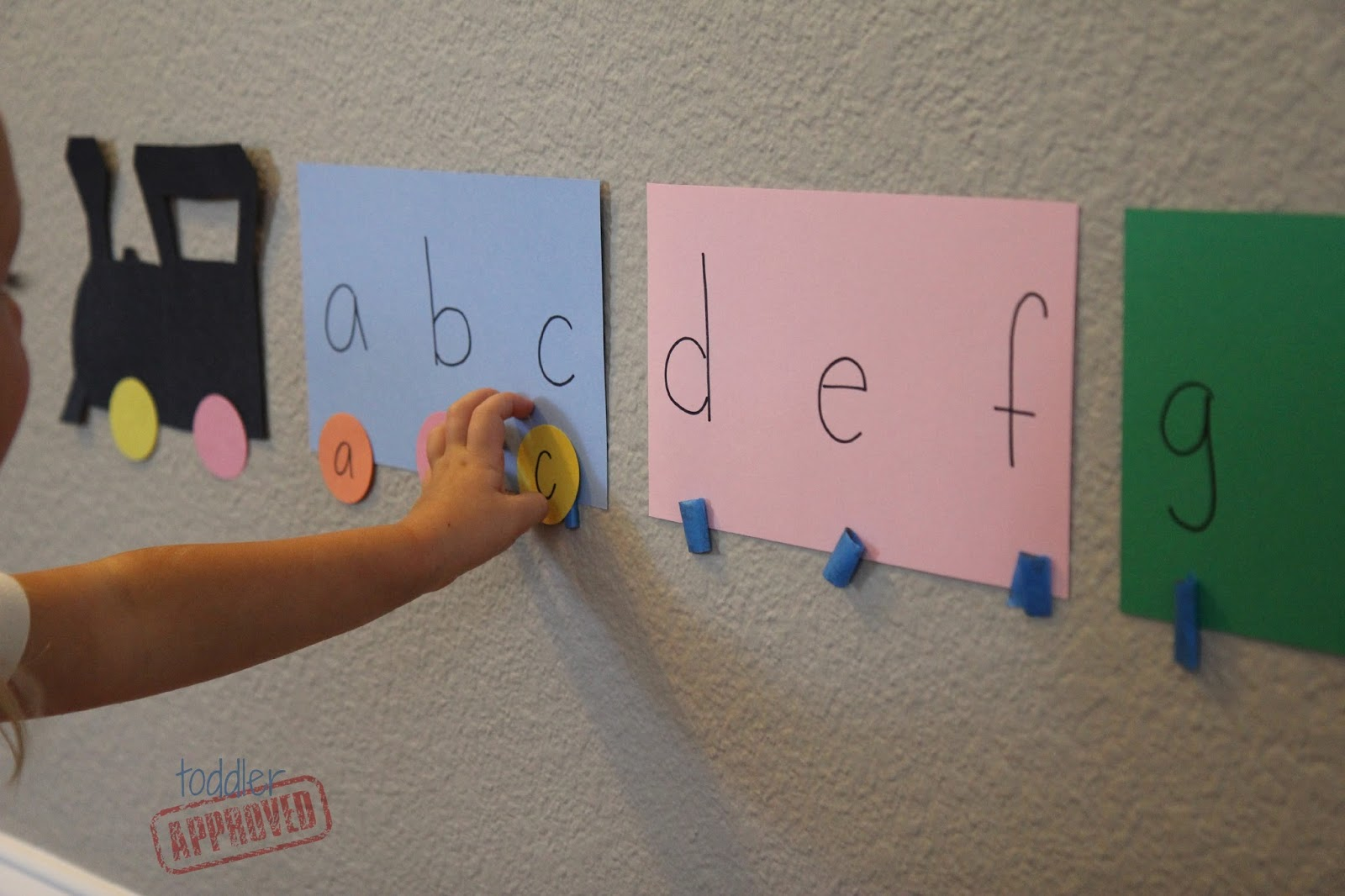 Toddler Approved Alphabet Train Matching Activity For