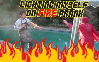 LIGHTING MYSELF ON FIRE PRANK