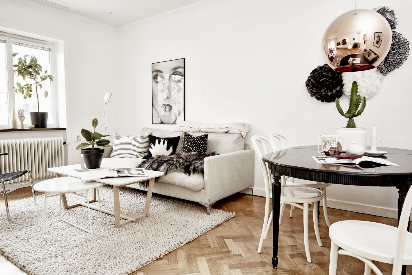 my scandinavian home the beautiful apartment of a swedish interior designer. Black Bedroom Furniture Sets. Home Design Ideas