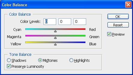 Mengatur warna di Photoshop