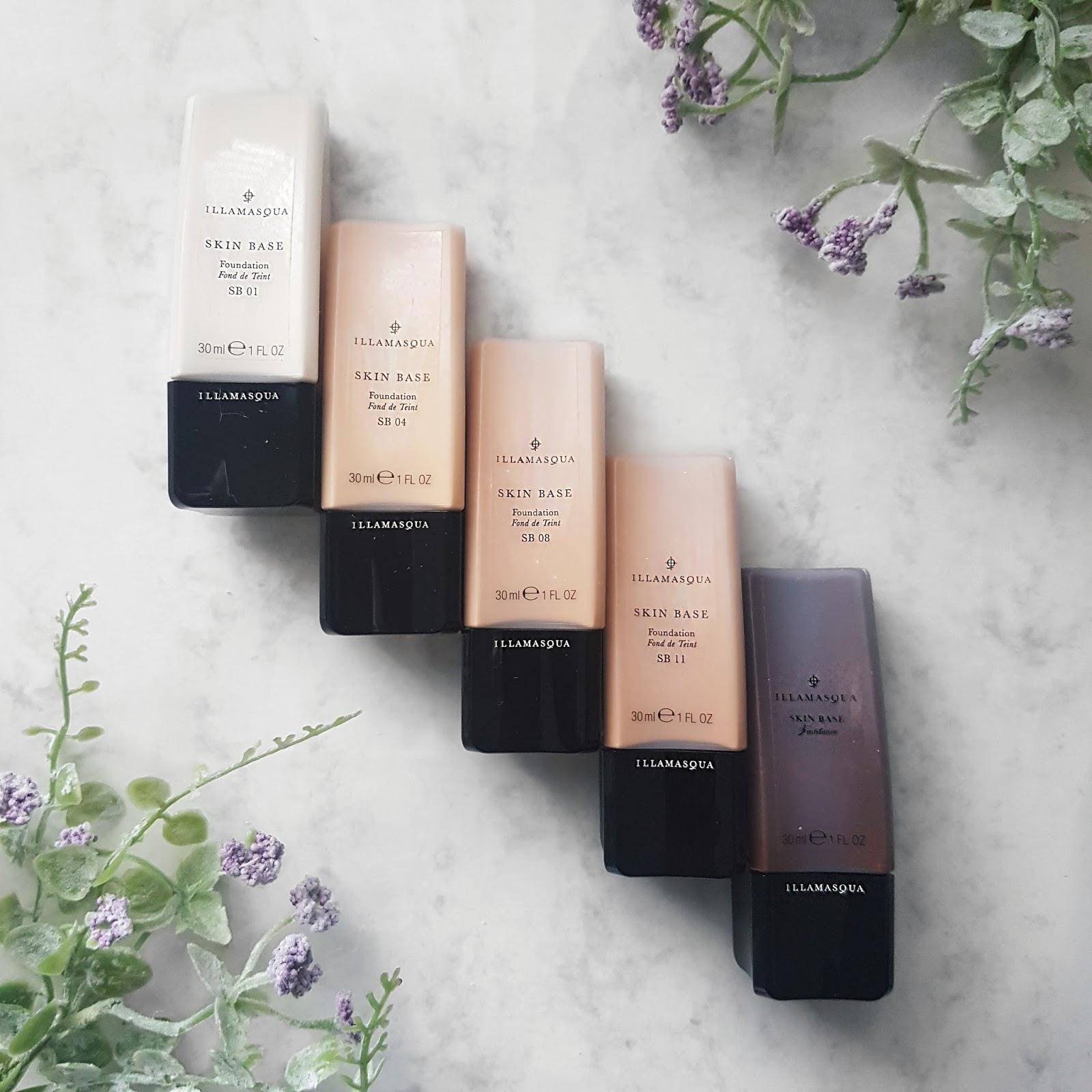 Five Bottles of Illamasqua Skin Base Foundation
