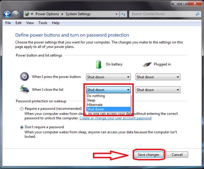 Cara Membuat Laptop Shutdown Otomatis Ketika Flip di Tutup