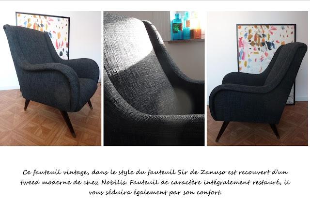 fauteuil Zanuso noir