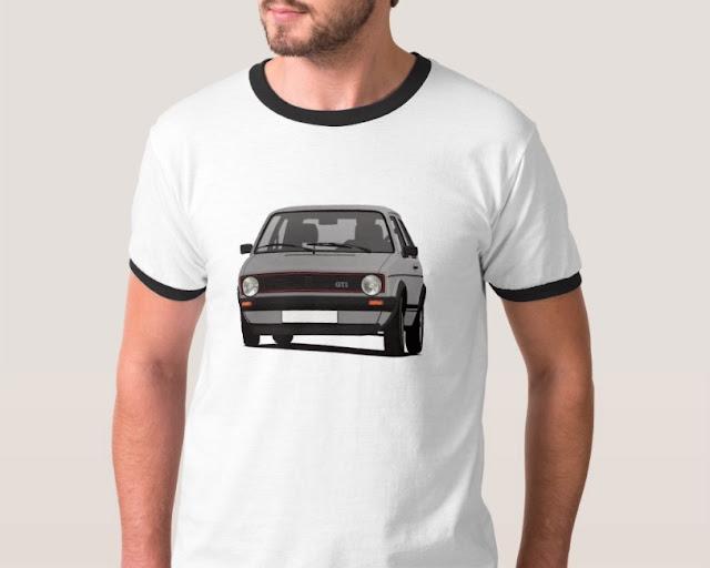 Vintage VW Golf I GTI car T-shirt