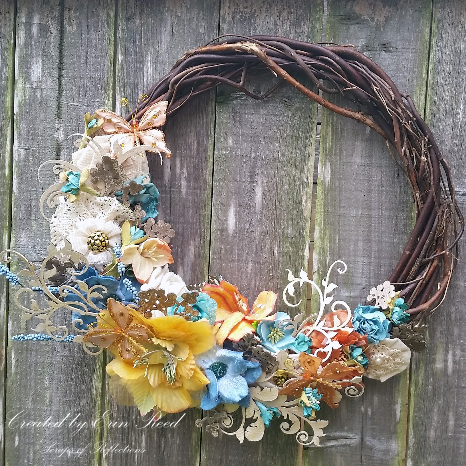 Erin Reed Makes Diy Summer Floral Wreath Creative Embellishments Beacon