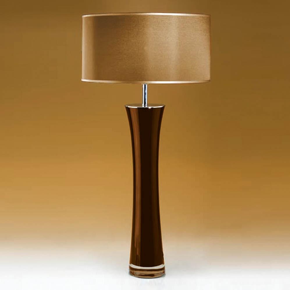 tischleuchten aus glas und kristall gro e braune tischleuchte aus glas bow. Black Bedroom Furniture Sets. Home Design Ideas
