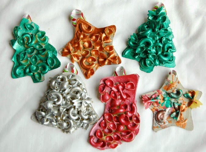 Dried Pasta Ornaments | What Can We Do With Paper And Glue