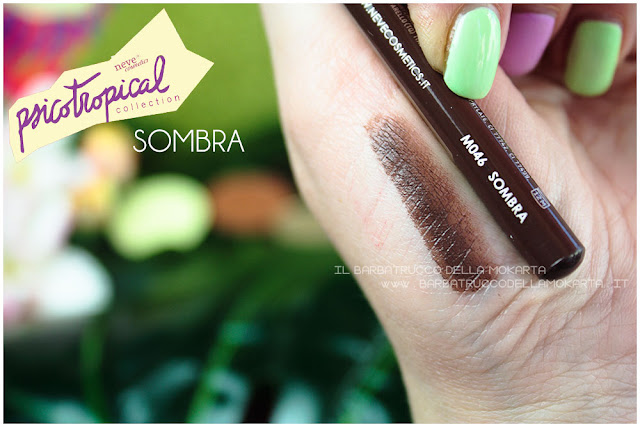 biopastello occhi SOMBRA SWATCHES eyepencil psicotropical collection neve cosmetics