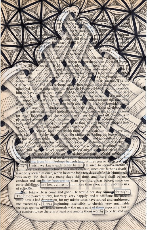 10-I-wish-Jo-Newsham-Zentangle-Drawings-on-Recycled-Vintage-Book-Pages-www-designstack-co