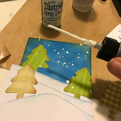 making_snow_for_cards_distress_spray_stain