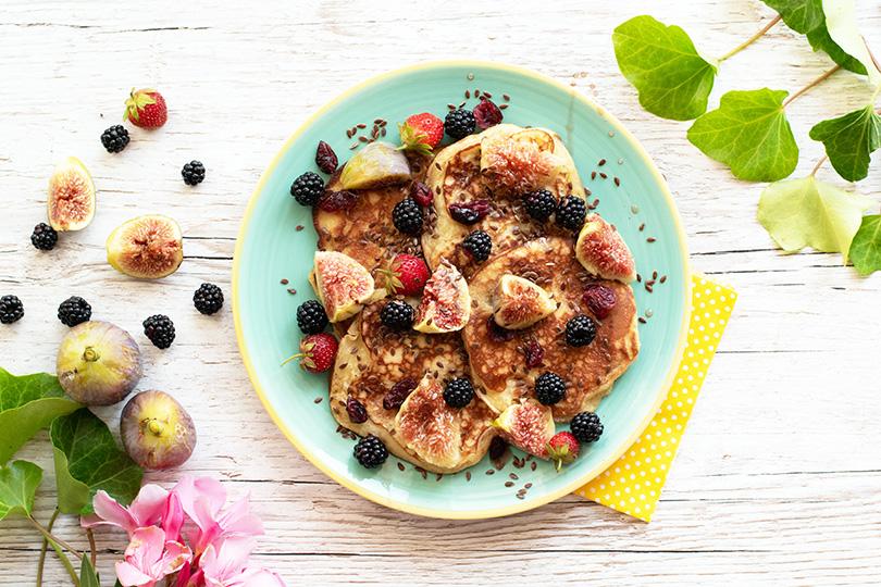 recette Pancakes figues et cranberries
