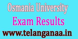 TS Osmania University MP.Ed May 2016 Exam Results