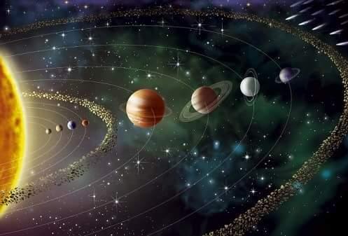 RARO EVENTO HA SUCEDIDO: Todos Los Planetas Y Asteroides Quedaron Del Mismo Lado Del Sol.