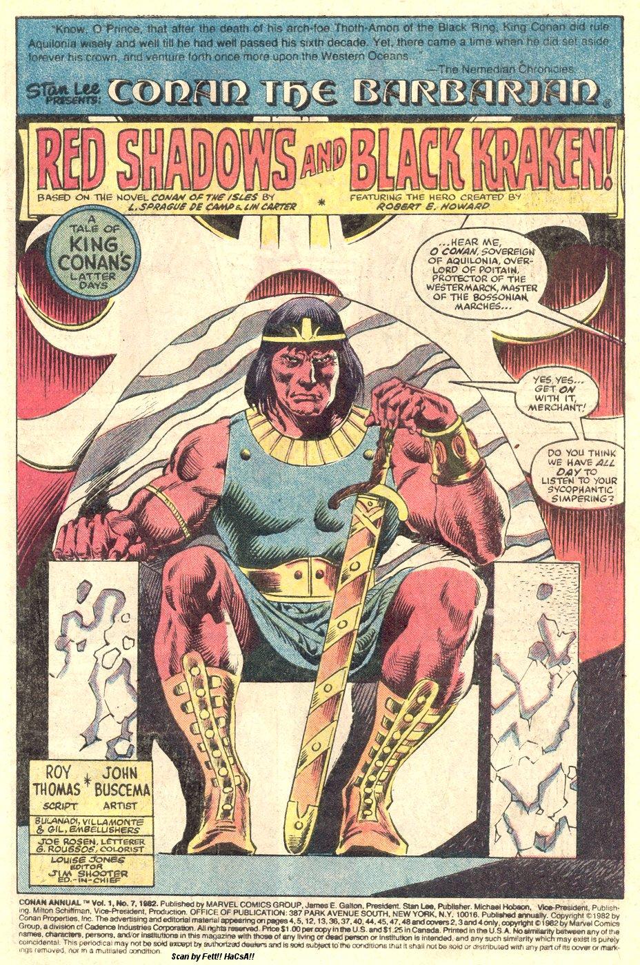 Conan the Barbarian (1970) Annual_7 Page 2