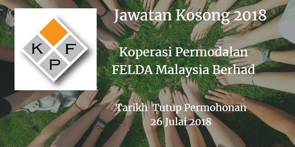 Jawatan Kosong Koperasi Permodalan FELDA Malaysia Berhad 26 Julai 2018