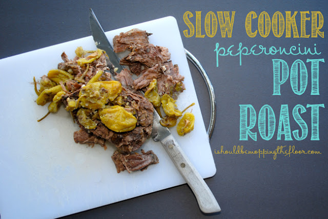 Slow Cooker Peperoncini Roast #Recipe, #SlowCooker, #CrockPot, #Roast