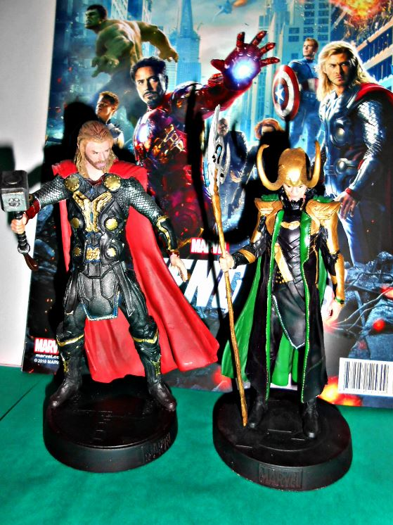 Loki & Thor figures from the Marvel Movie Collection