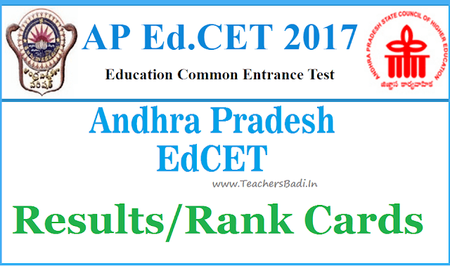 AP EdCET 2017 Results, Rank cards,AP Education entrance test 2017