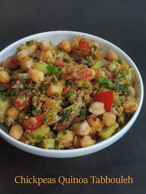 Chickpeas quinoa tabbouleh, Quinoa chickpeas tabbouleh