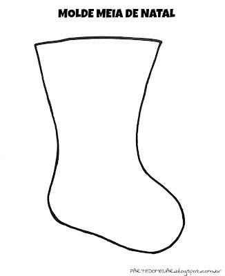molde meia bota de natal