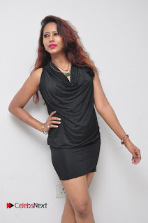 Model Sonia Pictures in Black Dress at Yes Mart Event  0012