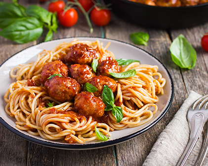 Healthy Spaghetti with Meatballs