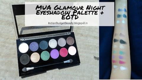 MUA Glamour Night Eyeshadow Palette + EOTD
