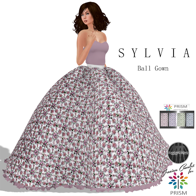 PRISM ~ New 55L Thursday Outfit is the SYLVIA Ball Gown with HUD
