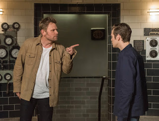 "Mark Pellegrino as Lucifer and Alexander Calvert as Jack in Supernatural 13x23 ""Let the Good Times Roll"""