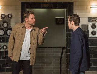"Mark Pellegrino as Lucifer and Alexander Calvert as Jack in Supernatural 13x23 ""Let the Good Times Roll"""