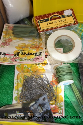 Eclectic Red Barn: Dollar box contents - flower items